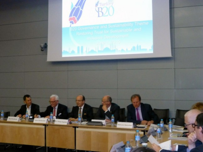 "B20 is Emphasizing ""Governance and Sustainability"""